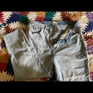 Madewell-Cropped Button Fly pants
